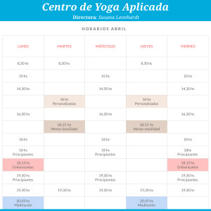 horarios yoga aplicada
