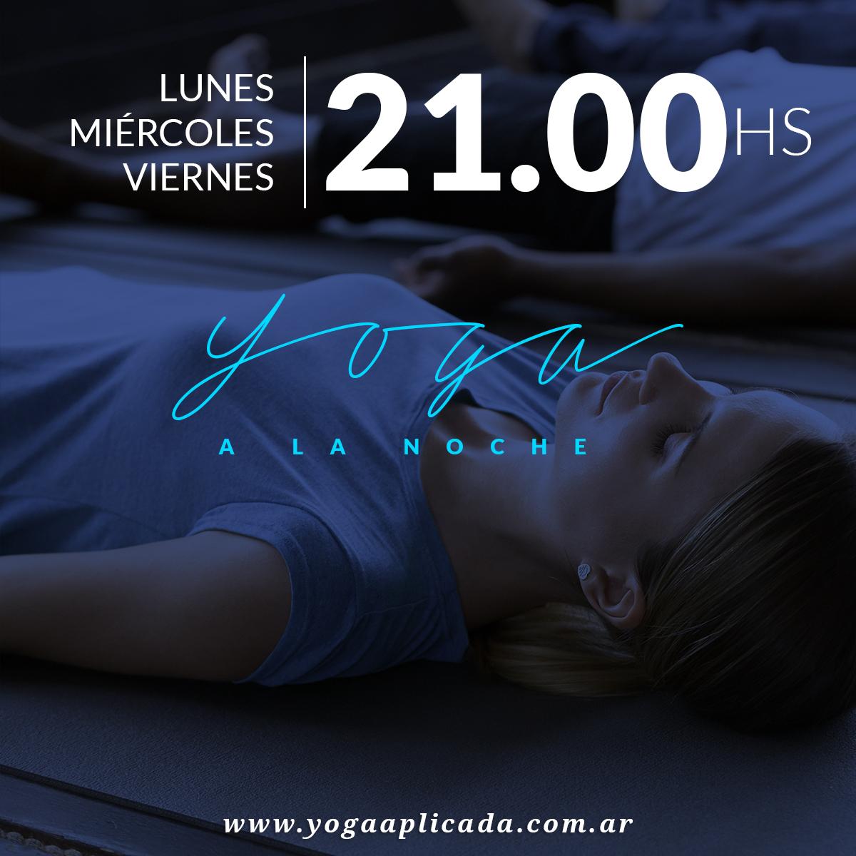 yoga a la noche